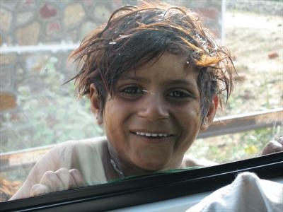 One rupee and a huge smile, Rajasthan, India