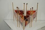 Dalang Nights by Julia Bond, Sculpture, Bamboo, Acrylic, mixed madia.