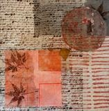 Japan Ephemera 2 by Julia Bond, Artist Print, Collage,glycerIne print, found materials.