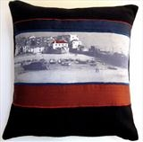 St Ives cushion by Julia Bond, Textiles, Textile.