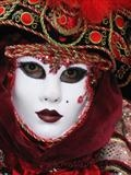 Traditional mask, Venice Carnival by Julia Bond, Photography
